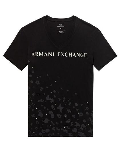 2fe20f60f6cd6 Camiseta Armani Exchange AX Foil Dot V-Neck - EuEnvio Importados ...