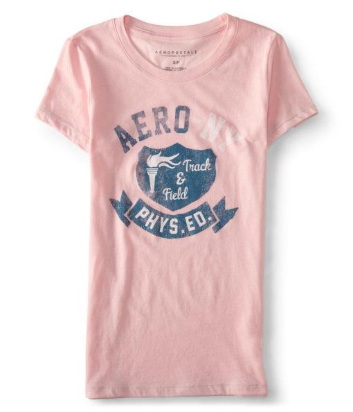 Aero Phys Ed Graphic T rosa preta azul