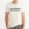 Camiseta Abercrombie & Fitch Applique Graphic Tee White