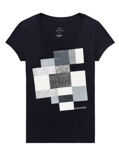 Chevron Block Tee  Azul