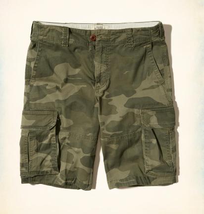 Hollister Cali Longboard Cargo Shorts Verde