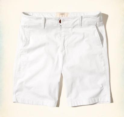 Hollister Classic Fit Shorts Branca