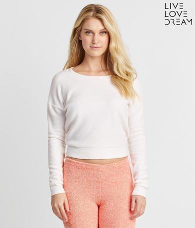 LLD Fuzzy Fleece Sweatshirt branca