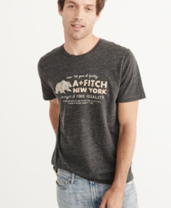 Camiseta Abercrombie & Fitch Logo Graphic Tee Black