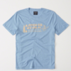 Camiseta Abercrombie & Fitch Logo Graphic Tee Ligth Blue