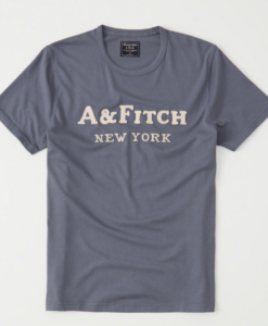 Camiseta Abercrombie & Fitch Logo Tee Shown in Blue