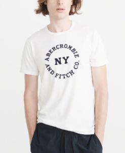 Camiseta Abercrombie & Fitch Logo Tee White