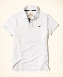 Polo Hollister Stretch Pique Polo Branca