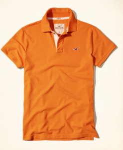 Polo Hollister Stretch Pique Polo Laranja