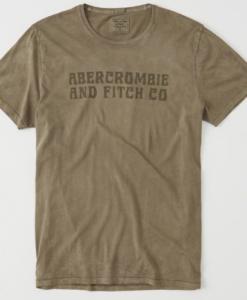 Camiseta Abercrombie & Fitch Tie Dye Logo Tee Light Olive