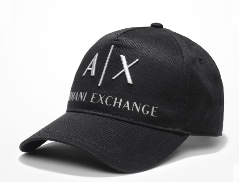 Boné Armani Exchange Ax Embroidered Hat Preto - EuEnvio Importados ... ecec5c3ee586b