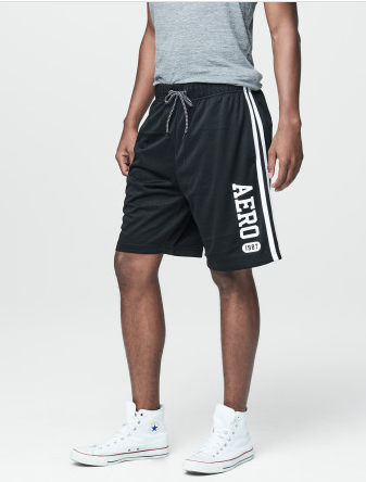 Aero 1987 Side Stripe Mesh Athletic Shorts