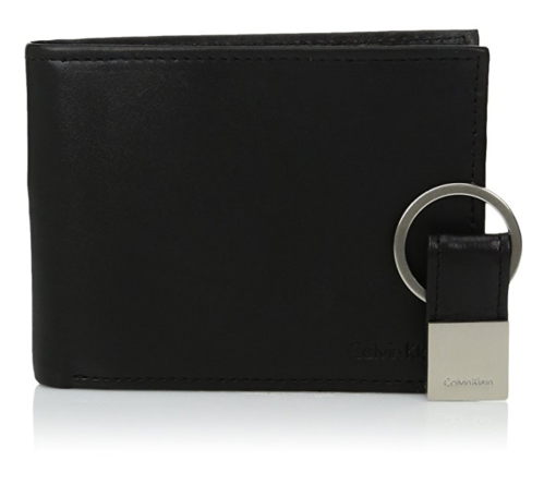 Calvin Klein Men's Leather Bifold Wallet Key Fob