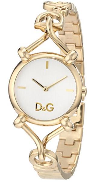 26eac4314d5 D G Dolce   Gabbana Women s DW0682 Flock Gold Case Silver Dial Spaghetti  Bracelet Watch