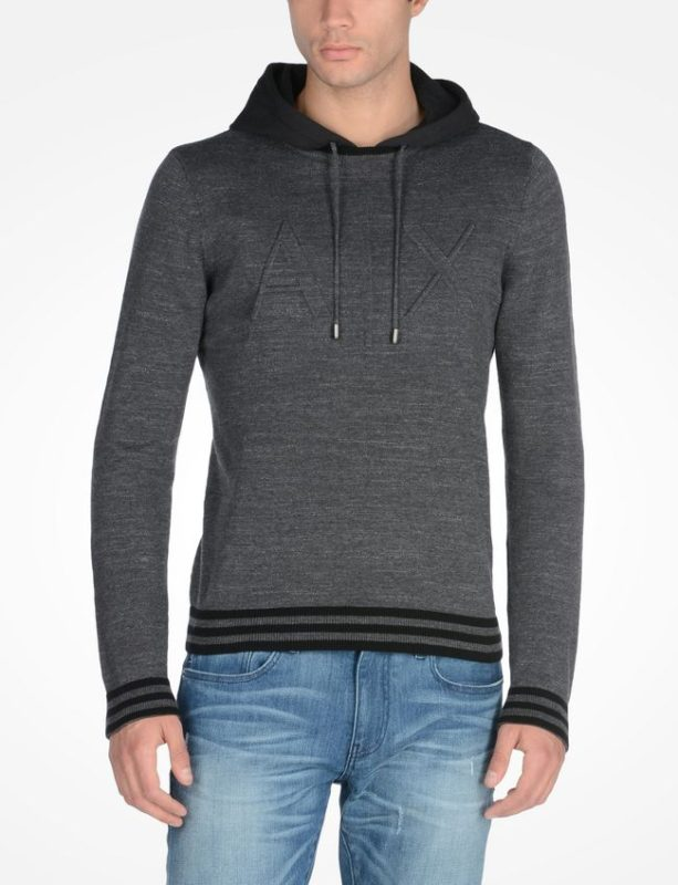 Debossed Logo Sweater With Hood