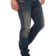 Diesel Krooley 824A Jeans 0824A Straight Leg Regular Slim Carrot Fit