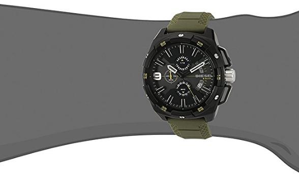 a25985c1215 Relógio Diesel DZ4396 Heavyweight Black Ip Green Silicone - EuEnvio ...