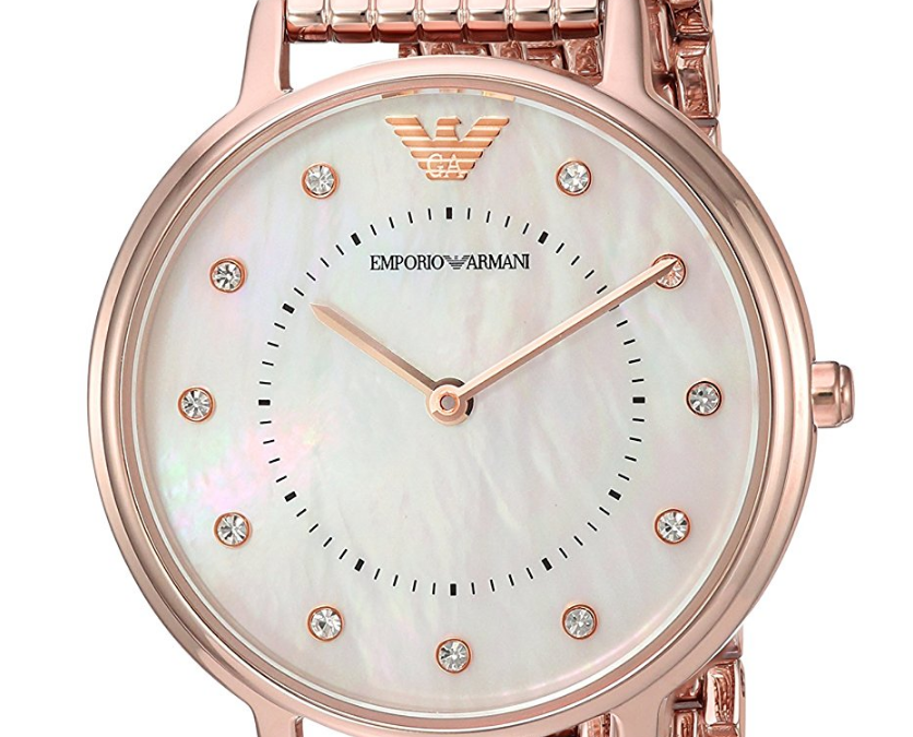 6a4129b830 Emporio Armani Women s  Kappa  Quartz and Stainless-Steel-Plated Casual  Watch AR11006