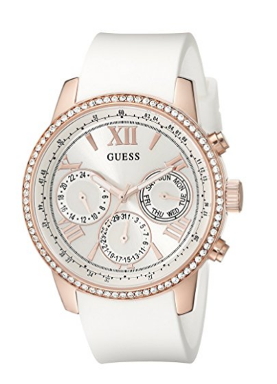 d615f9d051 GUESS Women s U0616L1 Sporty Rose Gold-Tone Stainless Steel Watch with  Multi-function Dial