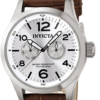 Invicta Men's 0765 II Collection Silver Dial Brown Leather Watch