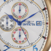 Invicta Men's 14330 Specialty 18k Yellow Gold-Plated Watch with Three Interchangeable Leather Bands,