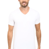 Camiseta Lacoste Colours 2-Pack V-Neck Tee Branca