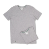Camiseta Lacoste Colours 2-Pack V-Neck Tee Cinza