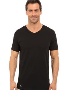 Camiseta Lacoste Colours 2-Pack V-Neck Tee Preta