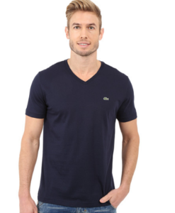 Camiseta Lacoste Pima Jersey V-Neck T-Shirt Navy