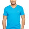 Camiseta Lacoste Short Sleeve V-Neck Pima Jersey Tee Shirt Azul