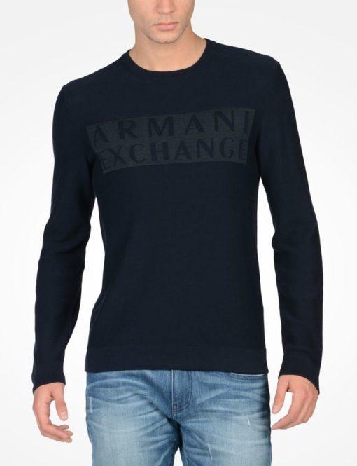 Logo Crew Sweater Azul