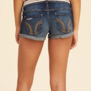 Low-Rise Denim Short-Shorts With Removable Belt jeans