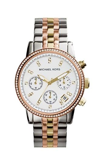 Michael Kors Women's Ritz Tri-Tone Watch MK5650
