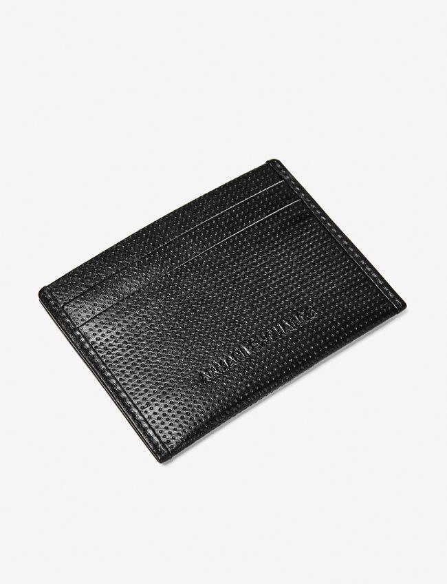 32cafd9e7 Carteira Armani Exchange Perforated Logo Cardcase - EuEnvio ...
