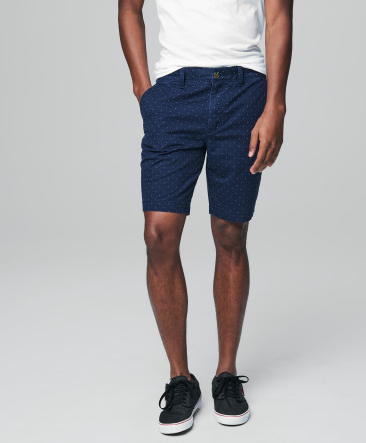 Prince & Fox Mini Dot Twill Stretch Shorts