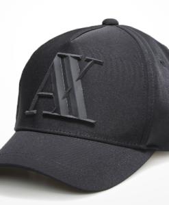 Boné Armani Exchange Rubber Ax Hat Preto