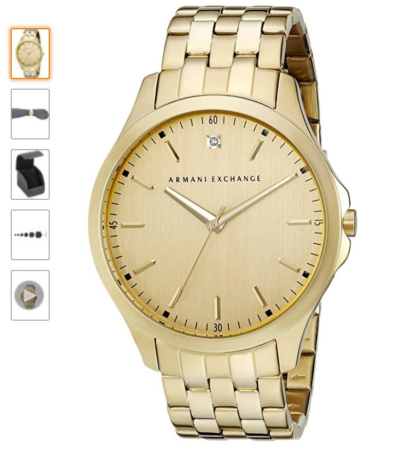 741b445632b Relógio Armani Exchange Dourado - EuEnvio Importados  Relógios ...