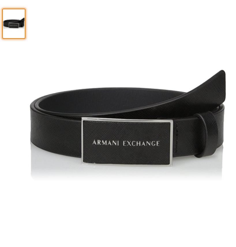 Cinto Armani Exchange Couro Legítimo - EuEnvio Importados  Relógios ... 80703f2dcdb06