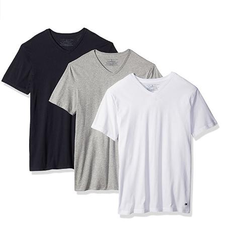 Tommy Hilfiger Men's Undershirts 3 Pack Cotton Classics V-neck T-shir