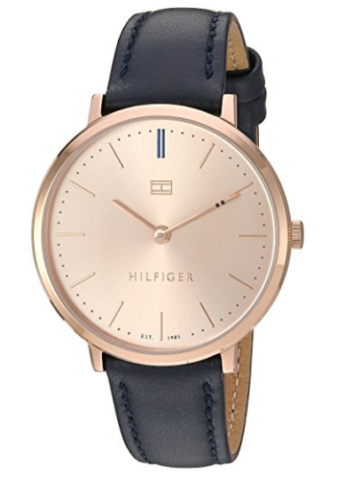 cb35bd6142f Tommy Hilfiger Women s  Sophisticated Sport  Quartz Gold and Leather  Automatic Watch