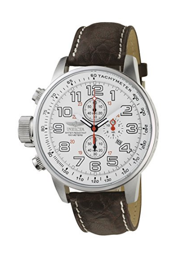 "6c95521c70b Invicta Men s 2771 ""Force Collection"" Stainless Steel Left-Handed Watch  with Brown Leather"