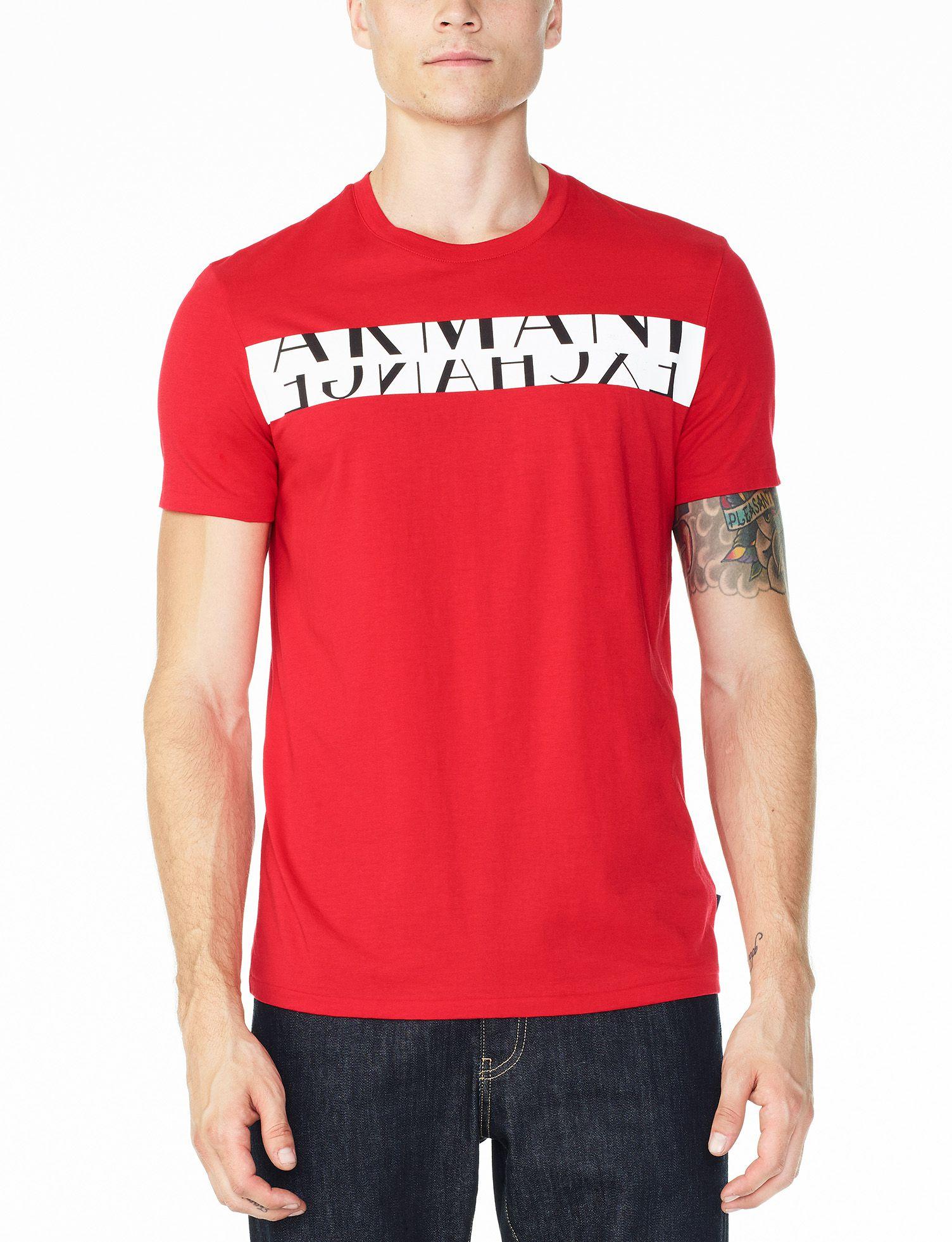 5cca259ce4c Camiseta Armani Exchange Vermelha - EuEnvio Importados  Relógios ...