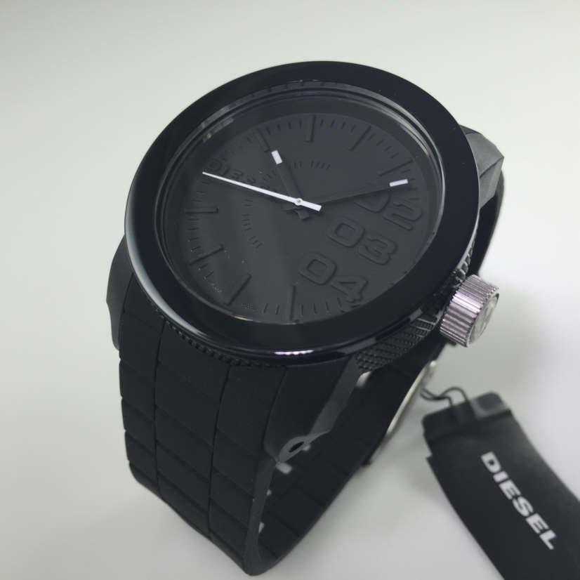 e4360161c55 Relógio Diesel DZ1437 Double Down Black Silicone - EuEnvio ...