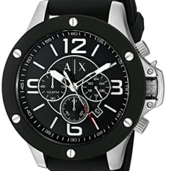Armani Exchange Men's AX1522 Black Silicone Quartz Watch