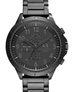 Armani Exchange Mens Black Stainless Steel Chronog