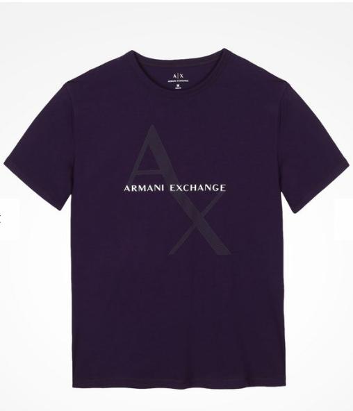 6b4476bddb4 Camiseta Armani Exchange Ax Box Logo Tee Roxa - EuEnvio Importados ...
