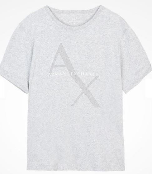 Camiseta Armani Exchange Ax Box Logo Tee Cinza - EuEnvio Importados ... 58be508cb3d50