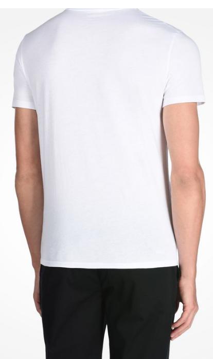 Camiseta Armani Exchange Ax Crewneck Branca - EuEnvio Importados ... 60253a8729fb0