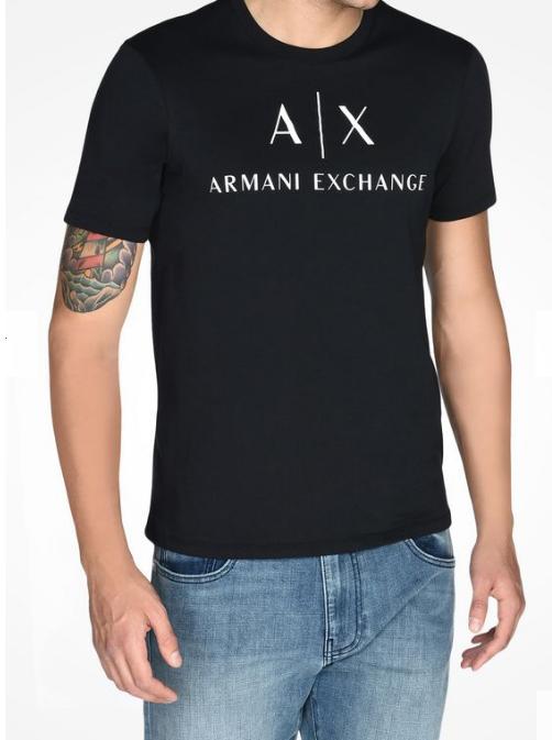 Camiseta Armani Exchange Ax Crewneck Preta - EuEnvio Importados ... e02e9fd512a2d