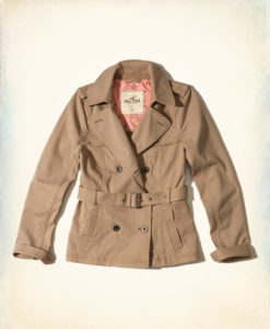 Moletom Hollister Belted Trench Jacket